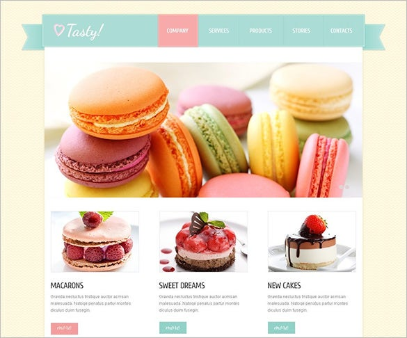 sweet shop joomla theme