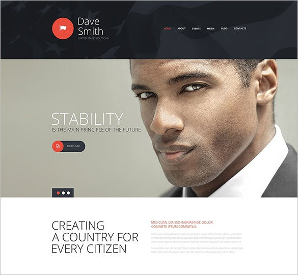 political candidate joomla template