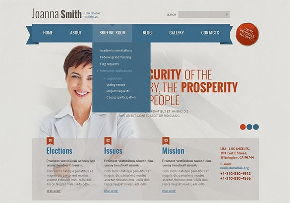 joomla theme for political candidate