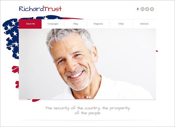 joomla template for political candidate