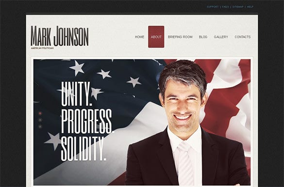 joomla template political candidate