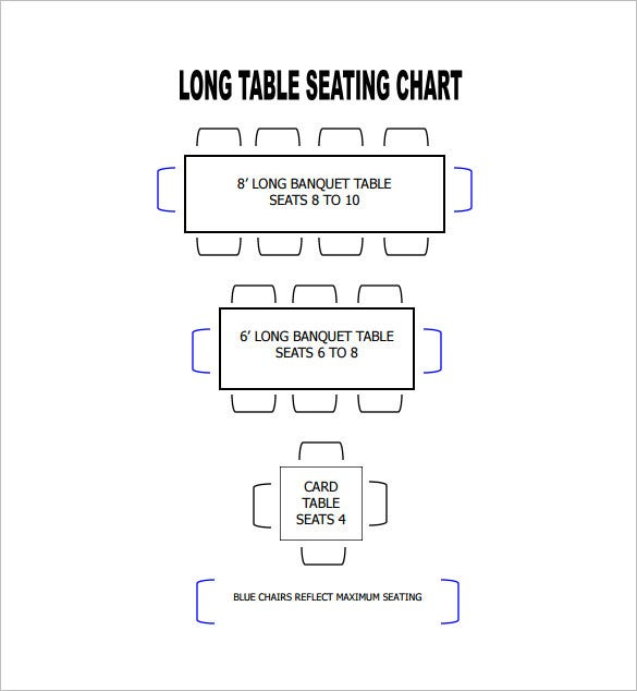 format of long table seating chart download