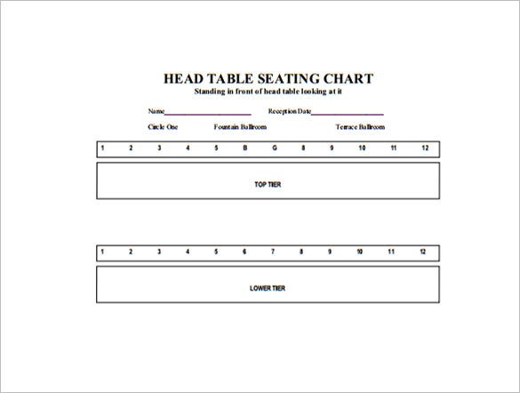 head table seating chart example pdf template download
