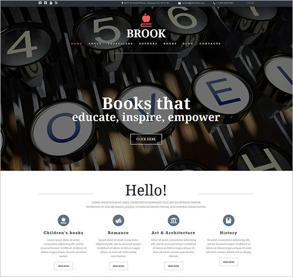 book publisher joomla template