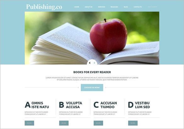 best book publisher joomla theme