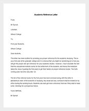Academic-Reference-Letter
