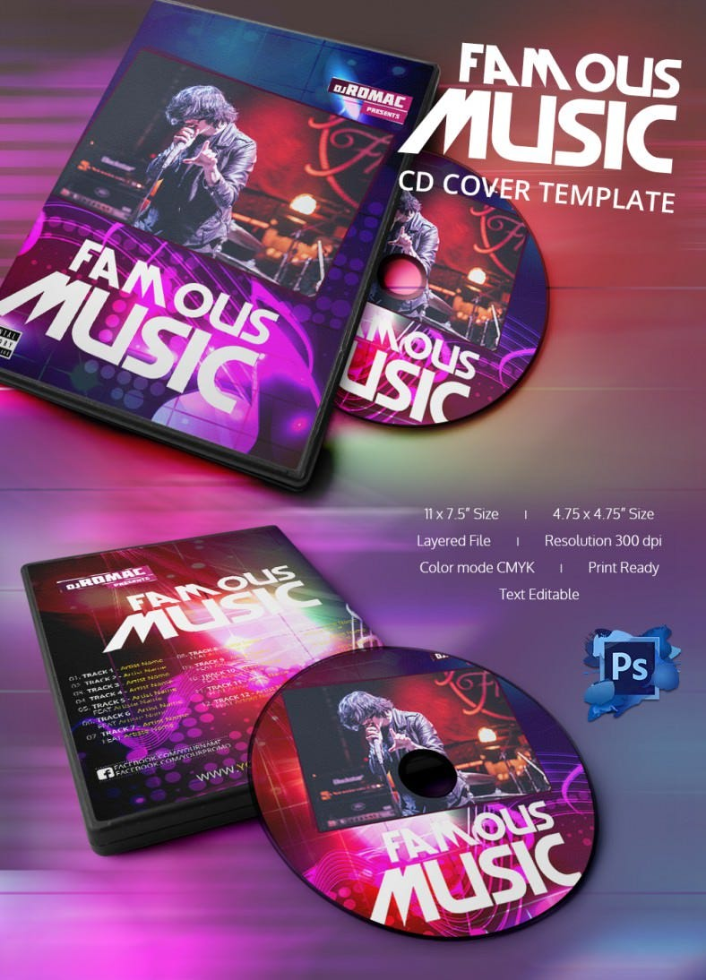 Cd box template download free vector art stock graphics amp images - Rocking Music Cd Cover Template