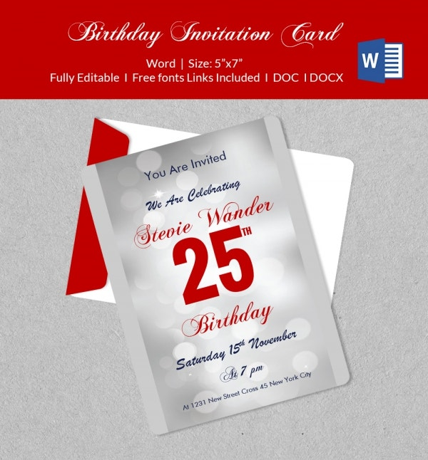 Printable Birthday Invitation Template Download
