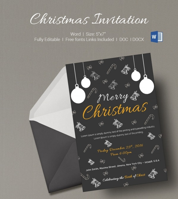 Merry Christmas Invitation Template