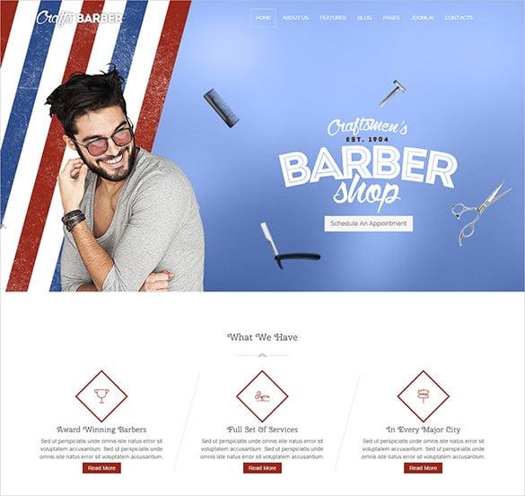 fantastic barbershop joomla template
