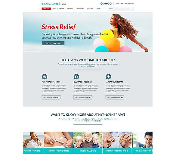hypnosis specialist joomla template