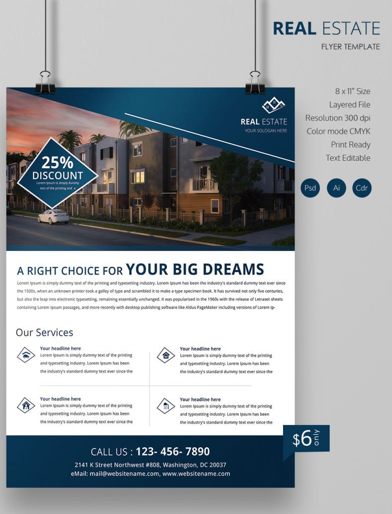 Real Estate Flyer Template 35 Free PSD AI Vector EPS Format – Free Download Brochure Templates for Microsoft Word