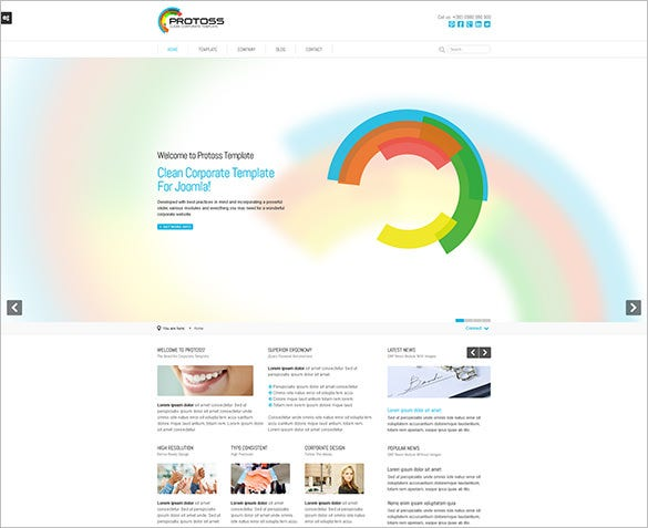 corporate retina ready template for joomla