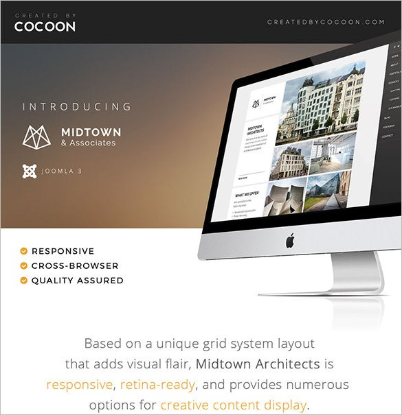 midtown architects retina ready joomla theme