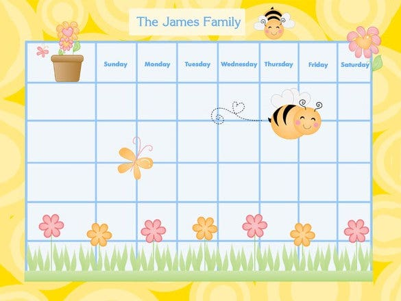 personalized family chore chart example download