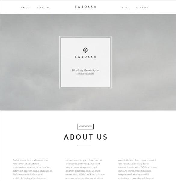 versatile one page elegant joomla template