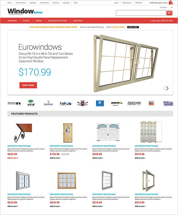 15 interior design zencart themes templates free for Window design template