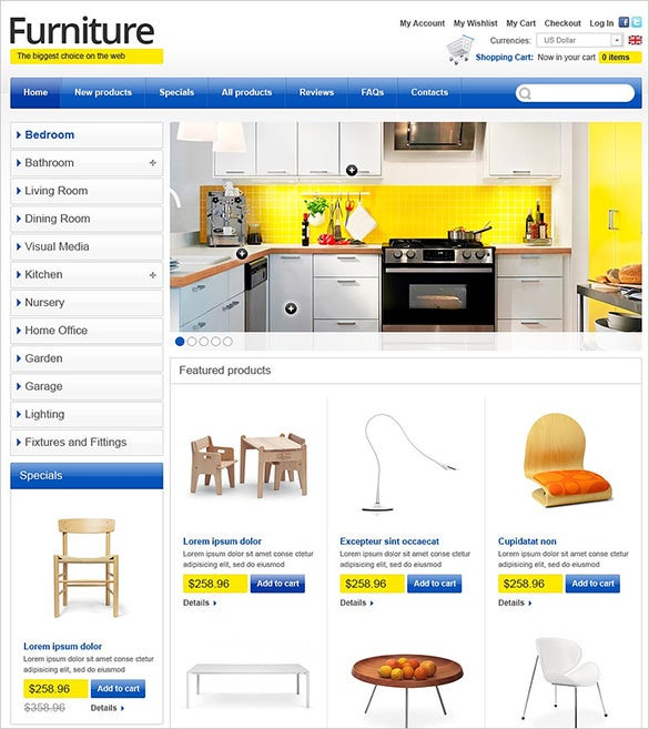 interior furniture design zencart theme