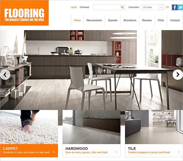 beautiful flooring interior design zencart template