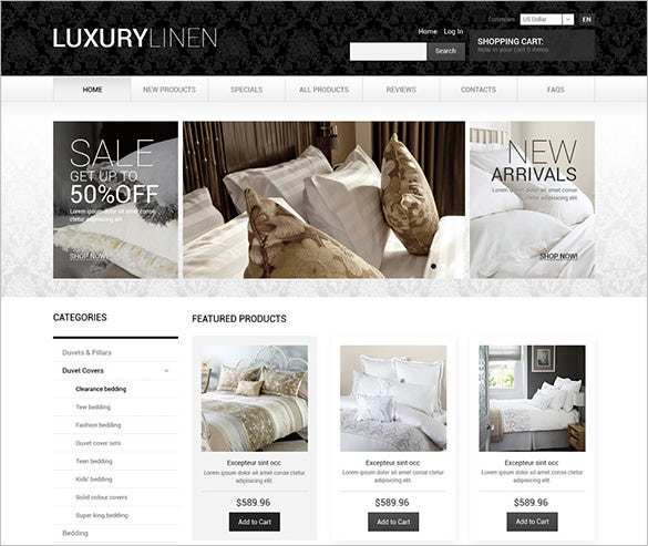 luxury interior design zencart theme