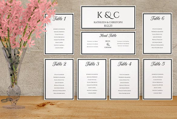 free wedding seating chart template