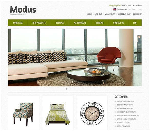 comfort interior design zencart theme