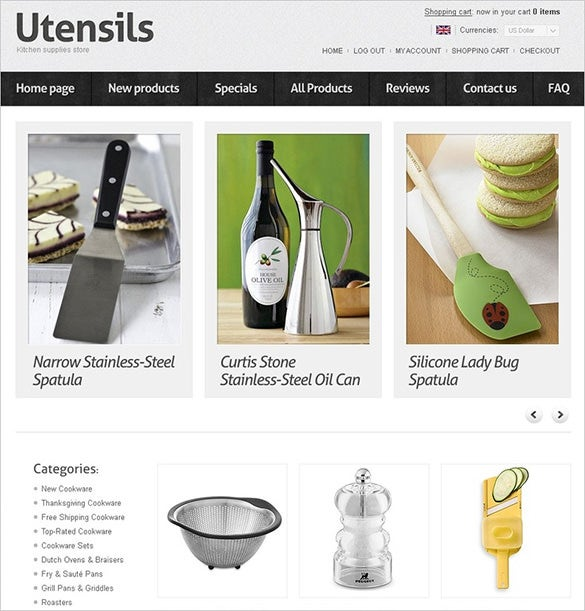 houseware interior design zencart template