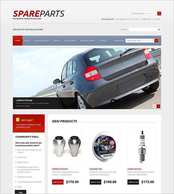 auto spare parts magento theme