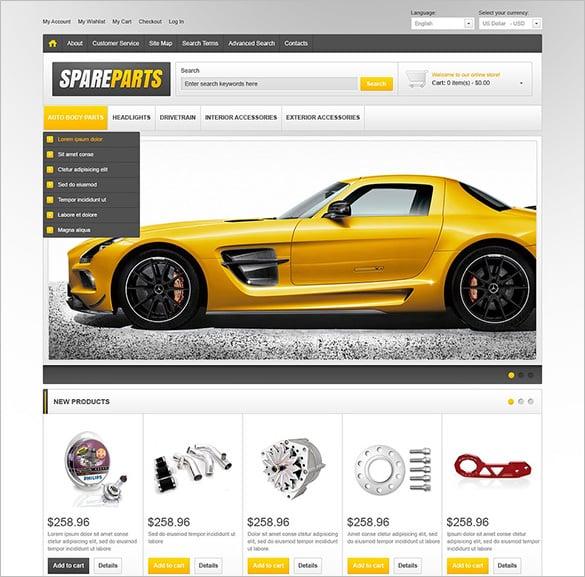 amazing auto spare parts magento theme