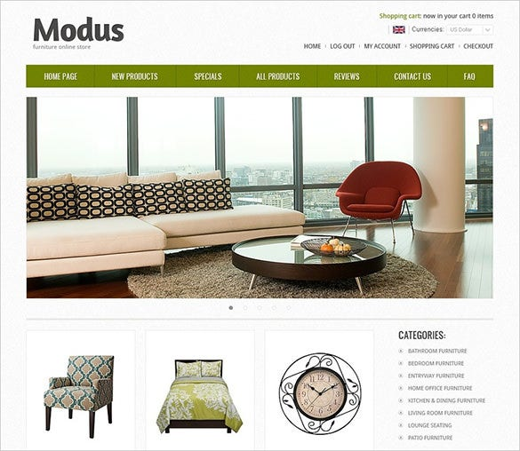 best furniture zencart template
