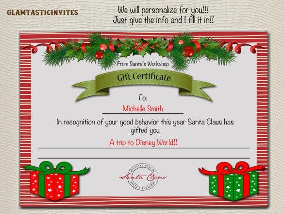 word gift certificate templates