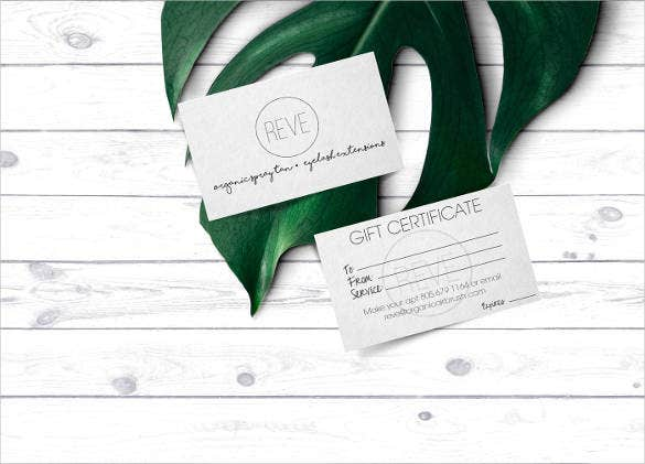 Free Gift Certificate Templates For Mac