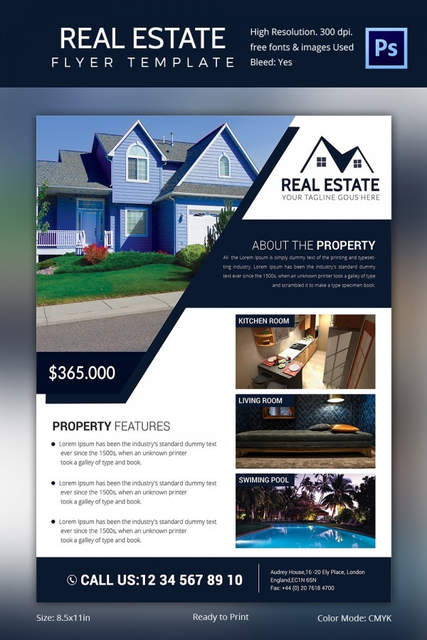 Real estate flyer template 37 free psd ai vector eps for House for sale brochure template