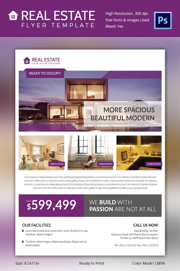 Better Real Estate Flyer Template PSD