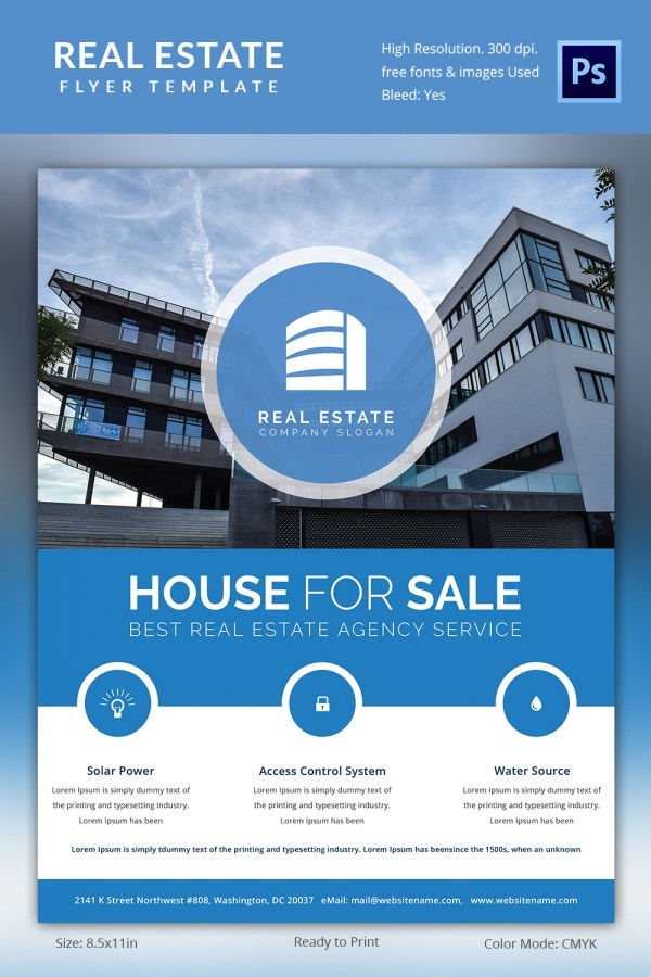 Real estate flyer template 35 free psd ai vector eps for House for sale brochure template