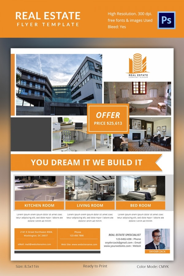 Real estate flyer template 37 free psd ai vector eps for Property brochure template