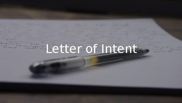 letterofintent