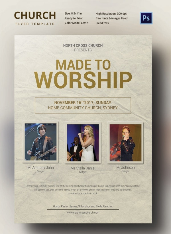 Worship Church Flyer Download