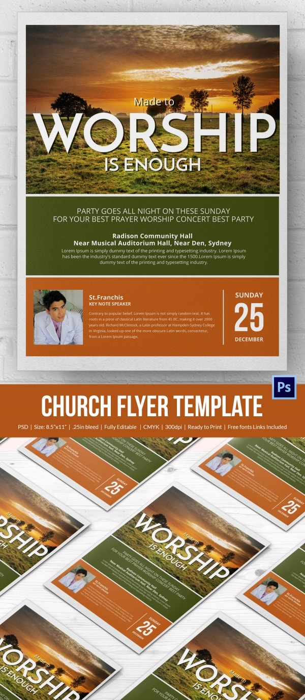 Church Flyer PSD Template Download