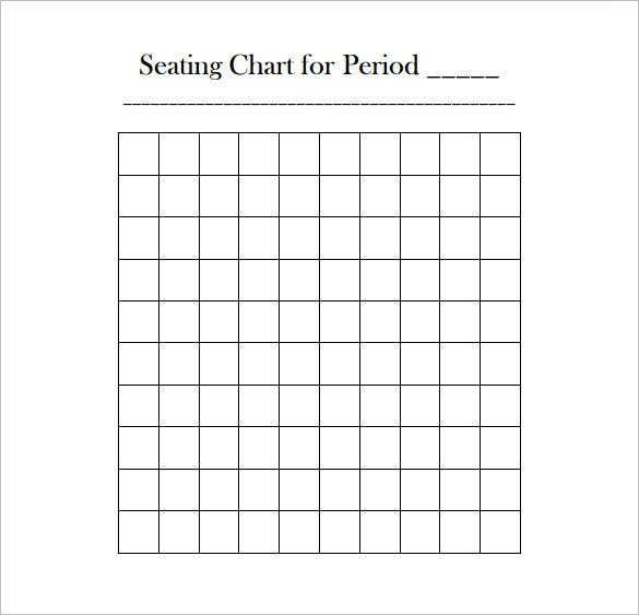 Classroom Seating Chart Template 10 Free Sample Example – Seating Chart Classroom Template