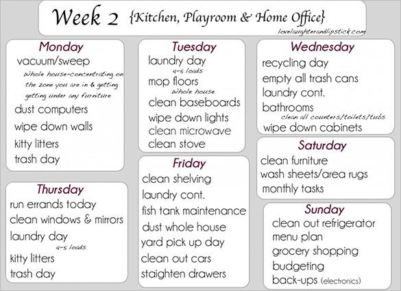 Kitchen Cleaning Checklist Zitzat. Weekly Kitchen Cleaning Checklist   zitzat com