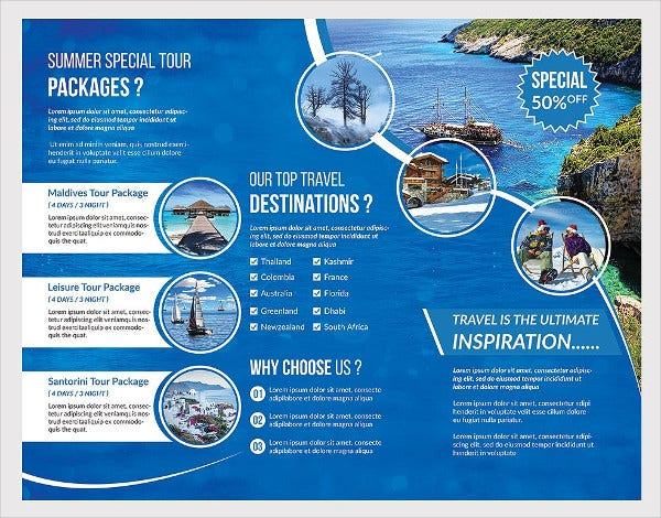 Travel Brochure Template   Free Psd Vector Eps Png Format