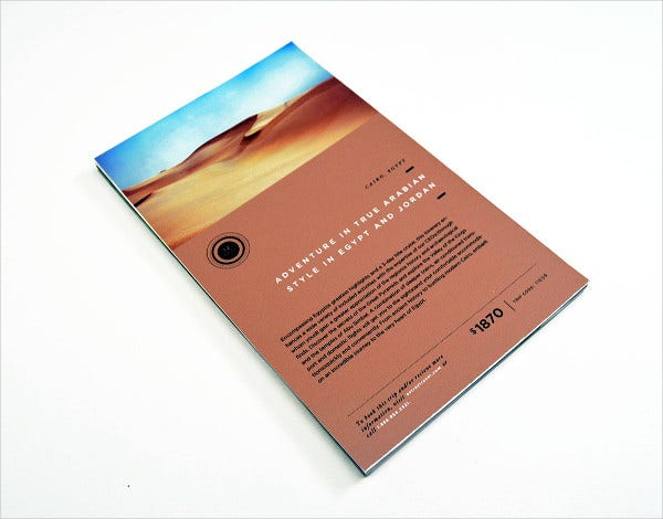 astray travel brochure design
