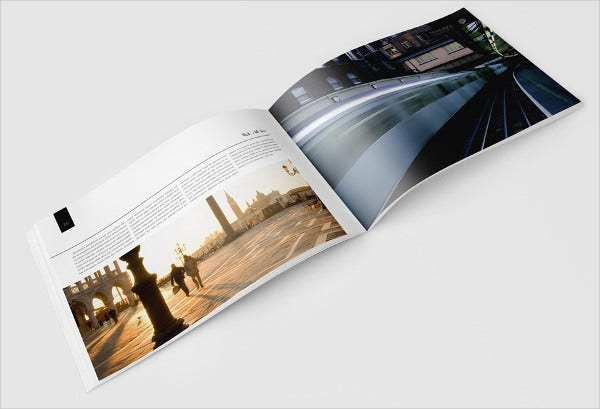 travel book brochure template