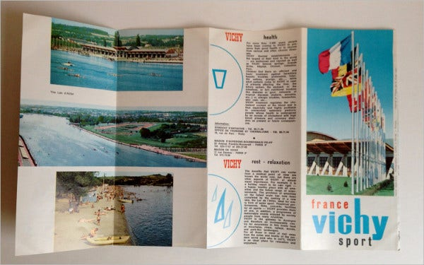 strange vichy france travel brochure