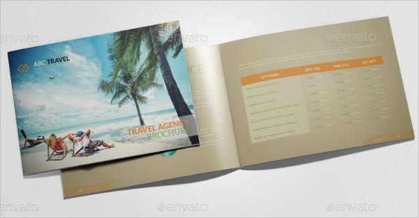 trip travel brochure template