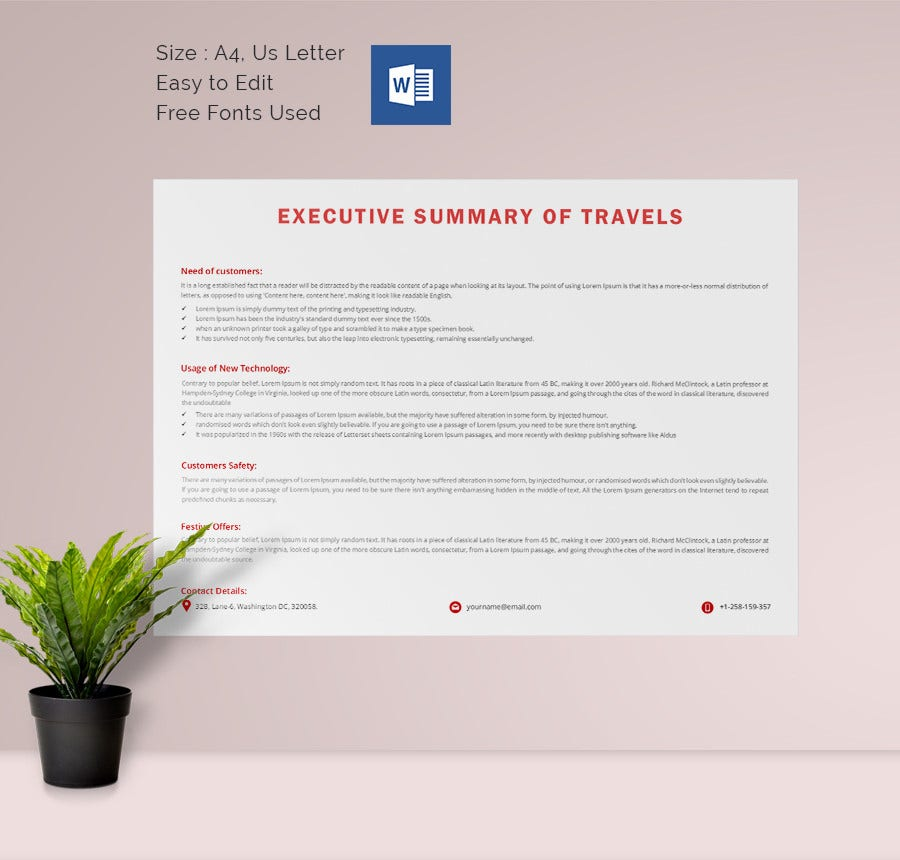 31 Executive Summary Templates Free Sample Example Format – One Page Executive Summary Template