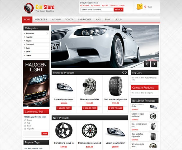 accessories of cars magento theme