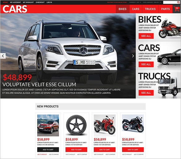 successful auto dealers magento theme