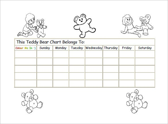 teddy reward chart sample pdf free download